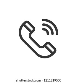 Call icon-phone call, telephone  vector line icon, simple linear pictogram