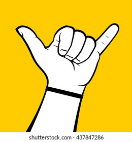Call me hand sign