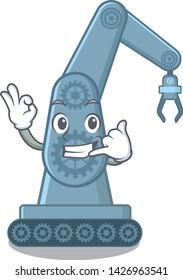 Call me toy mechatronic robot arm cartoon shape