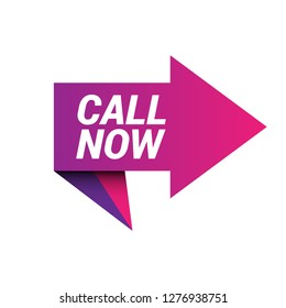 call now sign, emblem, label, badge,sticker. call now paper origami speech bubble. call now tag. call now banner. Designed for your web site design, logo, app, UI - Vektor