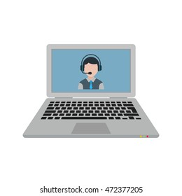 Call on Laptop