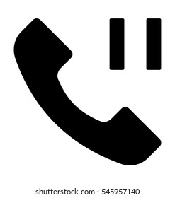 Call Pause Vector Icon