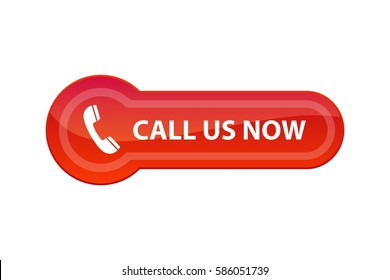 Call Us Now - red web button, vector