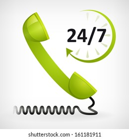 call us twenty four hours icon. customer support