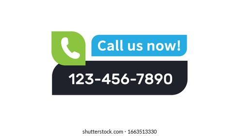 Call us vector button. Contact us modern ui banner.