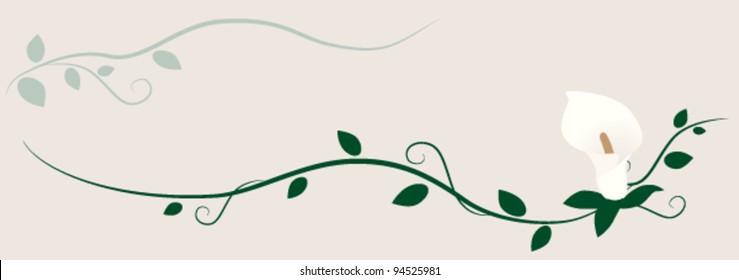 Calla Lily decorative ornament