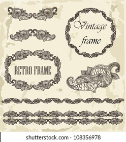 Calligrafic elements and frames