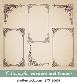 Calligraphic corners and frames