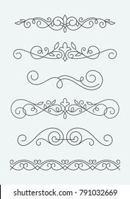 Calligraphic decorative elements.