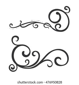calligraphic design element, vector illustration