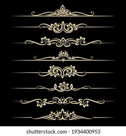 Calligraphic design elements, page dividers with thai ornament. divider ornament page, ornate vector illustration vector