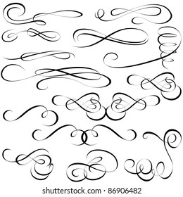 Calligraphic elements - black design elements