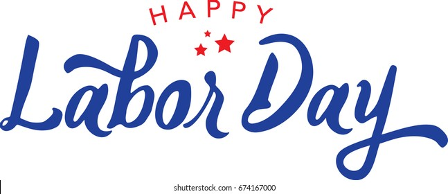 Calligraphic Happy Labor Day Vector Typography