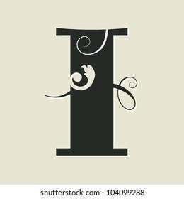 calligraphic letter I