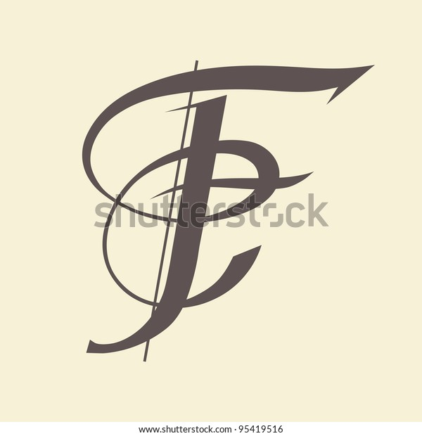 Calligraphic letter vector design