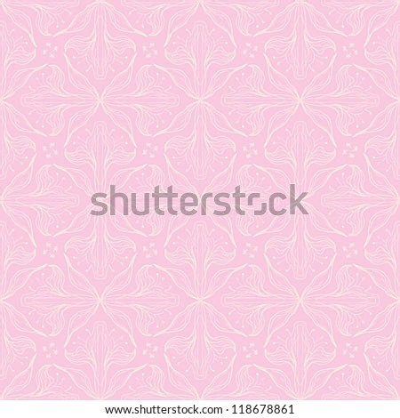 calligraphic pattern elegant flowers website background stock vector