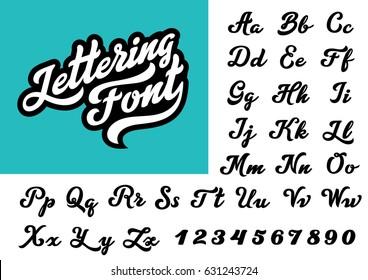 Calligraphic Vintage Handwritten vector Font for Lettering. Trendy Retro Calligraphy Script.