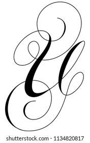 Calligraphy Alphabet Letter U