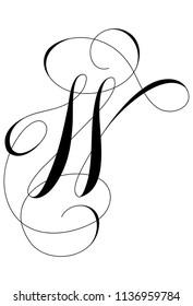 Calligraphy Alphabet Letter W