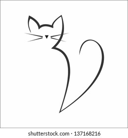 Calligraphy cat