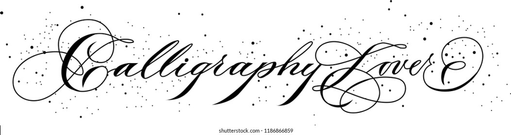 Calligraphy copperplate sign in vector made by nib