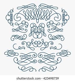 Calligraphy Flourishes / Vector