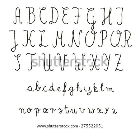 hand lettering fonts free calligraphy fonts vector alphabet เวกเตอร สต อก 22073