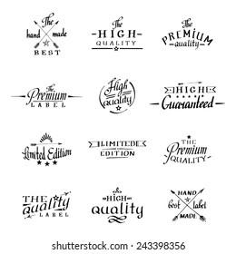 Kalligrafie und Schrift. handgezeichnete Logos