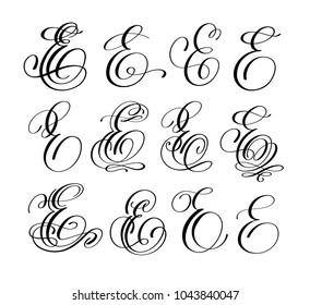 Letter E Script Images, Stock Photos & Vectors | Shutterstock