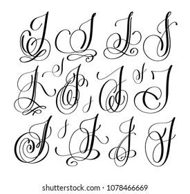 J In Cursive Capital Tattoo - Letter