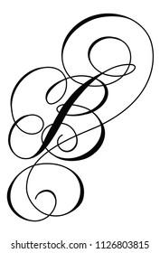 Calligraphy line art letter B