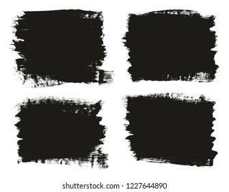 Calligraphy Paint Brush Background High Detail Abstract Vector Background Set 92