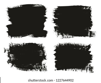 Calligraphy Paint Brush Background High Detail Abstract Vector Background Set 94