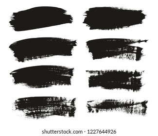 Calligraphy Paint Brush Background High Detail Abstract Vector Background Set 106
