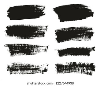 Calligraphy Paint Brush Background High Detail Abstract Vector Background Set 108