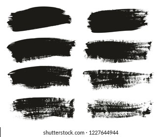 Calligraphy Paint Brush Background High Detail Abstract Vector Background Set 110