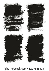 Calligraphy Paint Brush Background High Detail Abstract Vector Background Set 160