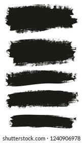 Calligraphy Paint Brush Background Mix High Detail Abstract Vector Background Set 92