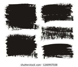 Calligraphy Paint Brush Background Mix High Detail Abstract Vector Background Set 12