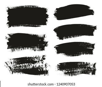 Calligraphy Paint Brush Background Mix High Detail Abstract Vector Background Set 18