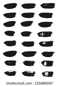 Calligraphy Paint Brush Lines High Detail Abstract Vector Background Set 36