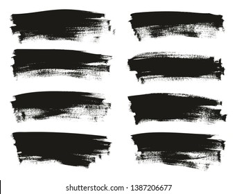 Calligraphy Paint Thin Brush Background Long High Detail Abstract Vector Background Set 105