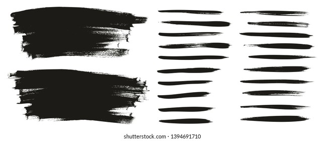 Calligraphy Paint Thin Brush Lines & Background High Detail Abstract Vector Background Set 53