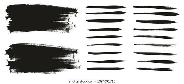 Calligraphy Paint Thin Brush Lines & Background High Detail Abstract Vector Background