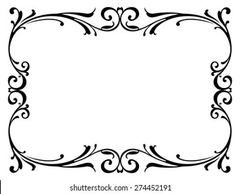 black and white border images  stock photos   vectors Simple Swirl Clip Art Elegant Swirl Designs Clip Art