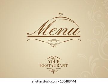 calligraphy restaurant menu design