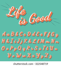 Calligraphy retro alphabet collection