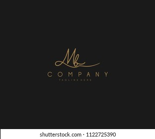 Calligraphy Signature Letter MB Logotype