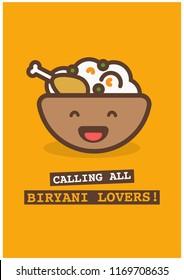 Calling All Biryani Lovers Poster Design
