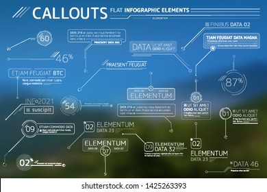 Callouts Flat Infographic Elements Collection